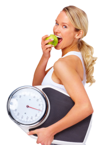 Woman with weighing scale - Medical Weight Loss