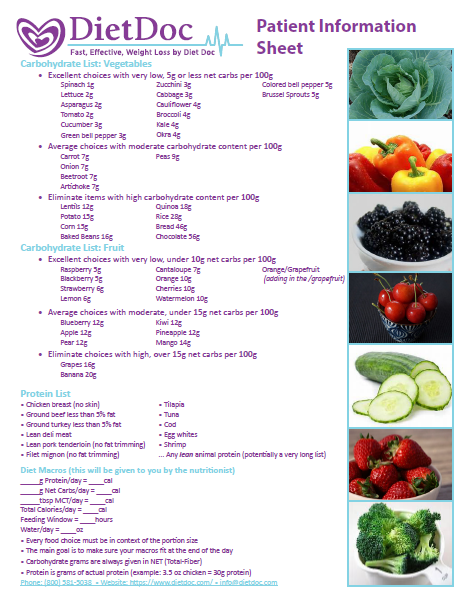 Diet Doc Food List