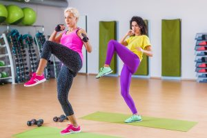 women HIIT training for weight loss