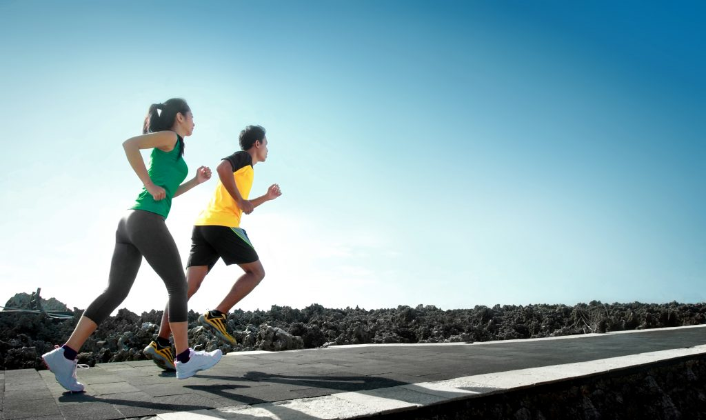 a couple following running tips for beginners outdoors