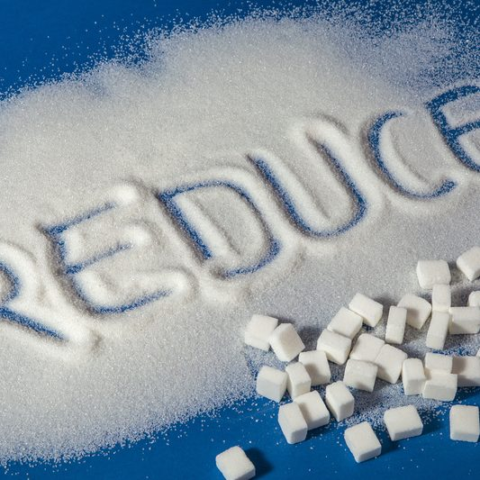 reduce written in sugar with sugar cubes